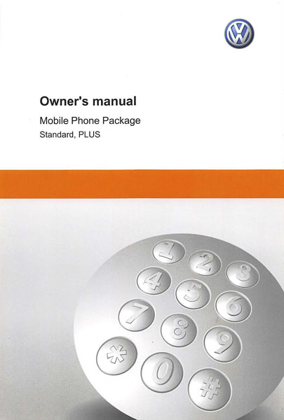 2012 Volkswagen Passat English Mobile Phone Package Cover