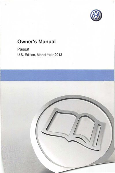 2012 Volkswagen Passat English Owner's Manual Cover