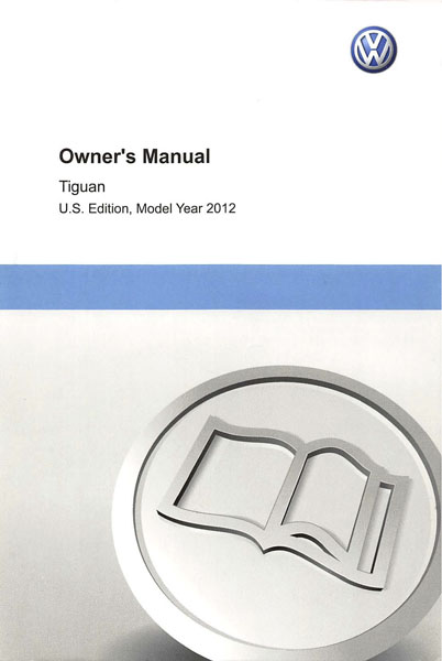 2012 Volkswagen Tiguan English Owner's Manual Cover
