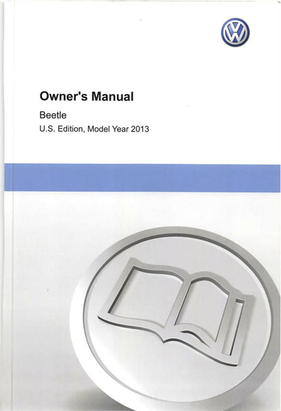 2013 Volkswagen Beetle English Owner's Manual Cover