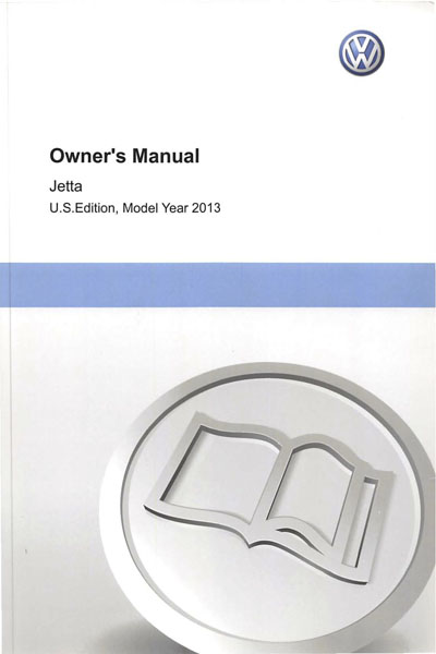 2013 Volkswagen Jetta English Owner's Manual Cover