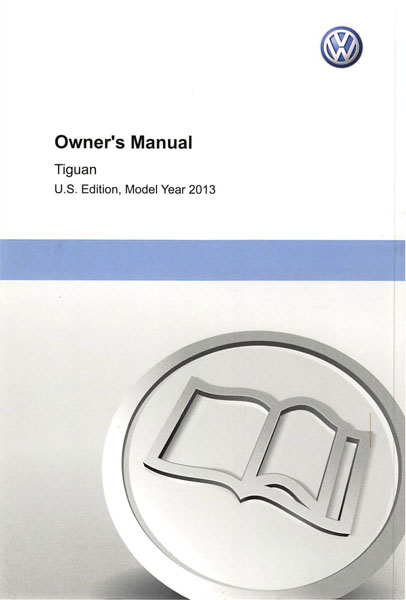 2013 Volkswagen Tiguan English Owner's Manual Cover