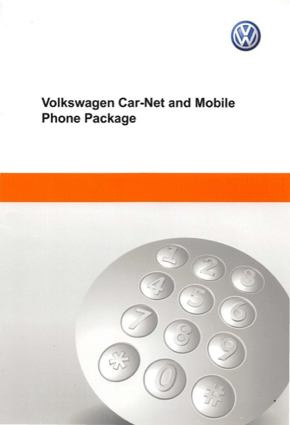 2014 Volkswagen Beetle English Car-Net and Mobile Phone Package Cover