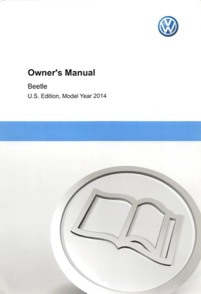 2014 Volkswagen Beetle English Owner's Manual Cover