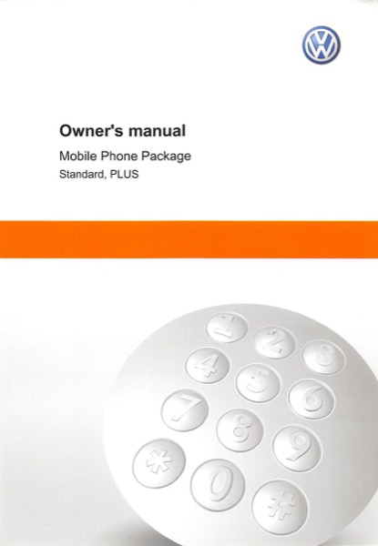 2014 Volkswagen Golf English Mobile Phone Package Cover