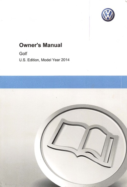2014 Volkswagen Golf English Owner's Manual Cover