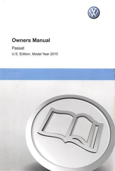 2015 Volkswagen Passat English Owner's Manual Cover