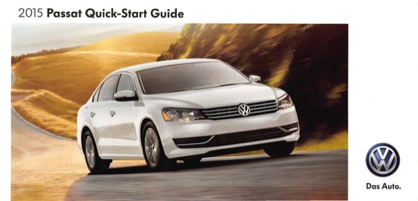 2015 Volkswagen Passat English Quick-Start Guide Cover