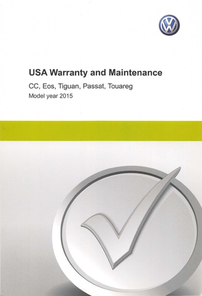 2015 Volkswagen Passat English USA Warranty and Maintenance Cover